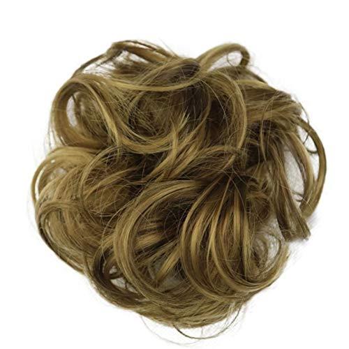 Femmes Hot synthétique flexible cheveux bouclés Buns Scrunchy Chignon élastique Messy onduleux Chouchous Wrap Ponytail Extensions for les femmes pour les femmes Cosplay Party (Color : 11)