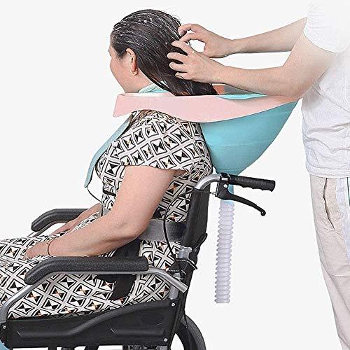 PPWYY Mobiler Salon Tragbar Faltbar Silikon Shampoo Becken Mit Ablassen Rohrkunststoff, Zum Behindert Schwangere Frau Alten Und Kind