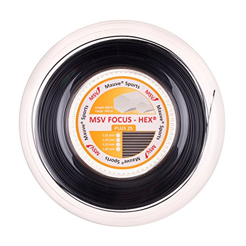 MSV - Corde Focus-Hex Plus 25, Corda, 0355260135700010, Nero, 200 m
