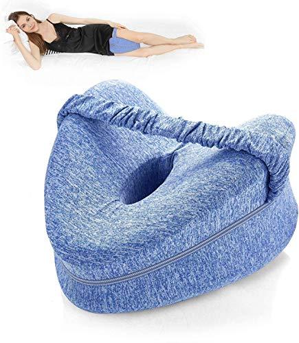 Kniekissen Bein | Memory-Schaum Keilkissen | Beinkissen zum Schlafen, Beinschmerzen, Knieschmerzen, Gelenkschmerzen & Schwangerschaftsbett Beinkissen für Seitenschläfer (blau)