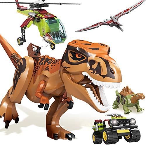 Juguetes Dinosaurio Bloques de Construcción 319 Piezas, Momento Infantil, Juguete de Ingeniería de con 8 Modelos, Juguetes Educativos Stem Juguetes de Aprendizaje para Niños de 6 7 8 9 Años De Edad