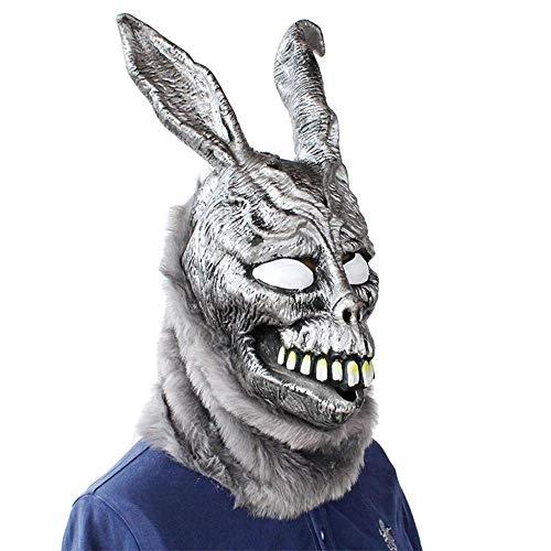 miaozai Frohe Ostern Pelz Masku Schreckliche Lustige Donnie Darko Frank Kaninchen Maske Halloween The Bunny Latex Hood Für Kinder Kinder Jungen,OneSize