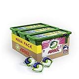 Ariel 3en1 Pods Ecodoses Fresh Pink - Lessive Doses - 114 lavages (pack de 3x38...