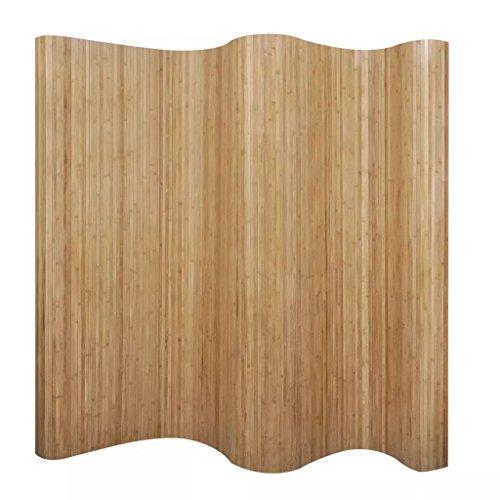 vidaXL Pannello Divisorio per la Stanza in bambù Naturale Paravento 250x165 cm Separè