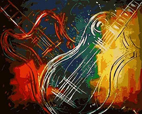 Diy Número De Guitarra Musical Con Pincel Dibujo Decoración Ornamento Regalo