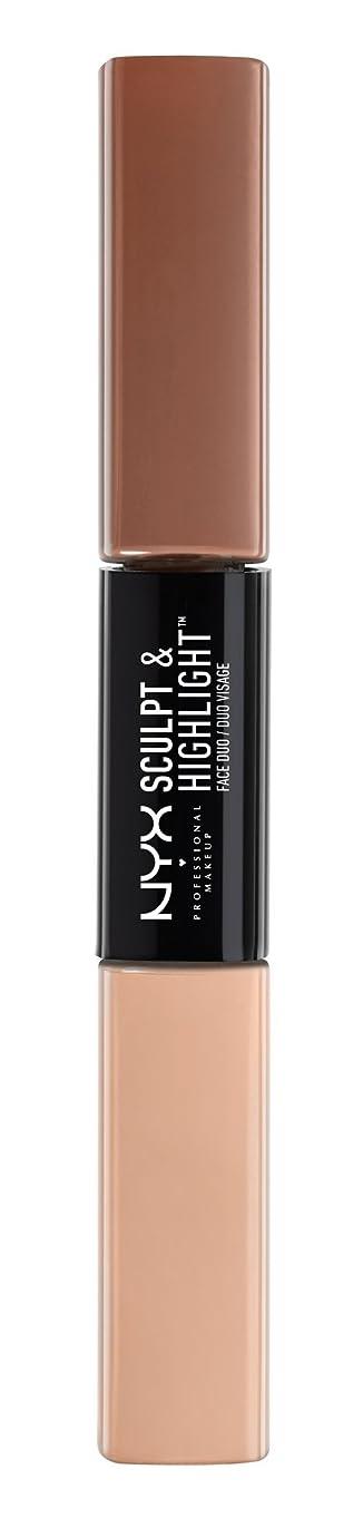 ウェイトレスひねくれたアナロジーNYX(ニックス) スカルプト&ハイライト フェイス デュオ 01 カラートープ/アイボリー
