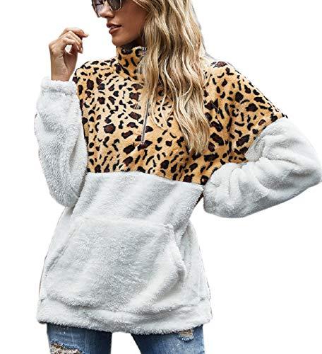 Tuopuda Mujer Sudadera Caliente y Esponjoso Tops Chaqueta Suéter Abrigo Jersey Mujer...