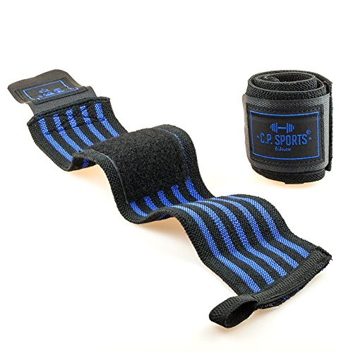 C.P. Sports Strongman-Handgelenkbandagen 50cm blau - 2