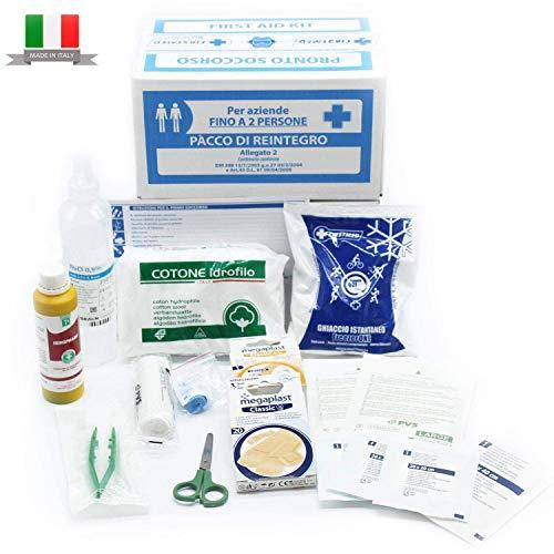 Kit Di Reintegro Allegato 2 Per Cassetta Medica Pronto Soccorso Per Aziende Meno 3 Dipendenti