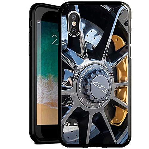 RY Progettato per Cover iPhone 6/iPhone 6S,Antiurto AntiGraffio Nero Vetro temperato Cabina telefonica [ZXG400003]
