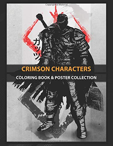 Coloring Book & Poster Collection: Crimson Characters Crimson Guts Anime & Manga