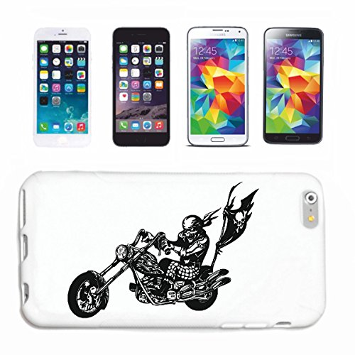 Funda para iPhone 5 / 5S Biker Moto Chopper Rocker Route 66 Harley Funda Smart Cover