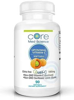 Core Med Liposomal Vitamin C Softgels 1000mg/dose - Quali®-C Vitamin C (Scotland) - USA Made - Immunity Support, Collagen ...