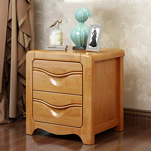 BAIHAO Bedside Cabinet Side Table Telephone Stand Couch Table Storage Unit with 2 Sliding Drawers for Home Living Room Bedroom Decor Nightstand