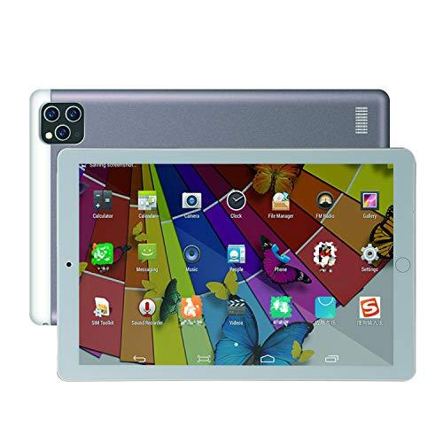 FJYDM 10,1-Zoll-Android-Tablets, Tablets 720 * 1280 Hochauflösender IPS-Bildschirm, 1 GB RAM, 16 GB Acht-Kern-Prozessor, Dual-Band-WLAN, GPS, Metallhülle,Grau