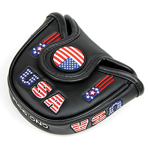CNC GOLF USA Mallet Black Putter Cover Headcover for Scotty Cameron Taylormade Odyssey 2ball