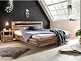 Woodkings® Holz Bett 180x200 Marton Doppelbett massiv Holz Schlafzimmer Möbel Doppelbett Schwebebett rustikale Naturmöbel Echtholzmöbel (Akazie Rustic)