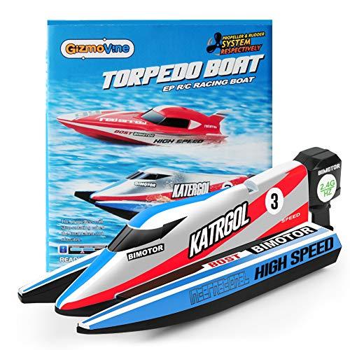 GizmoVine Mini Ferngesteuertes Boot für Kinder,Schnelle RC Boote für Pools Racing Boot Wasserspielzeug für Erwachsene Jungen Mädchen