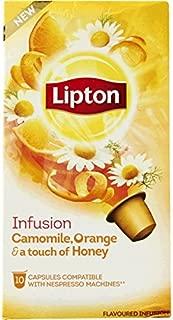60 x LIPTON - Nespresso OriginalLine Compatible Capsules - INFUSION CAMOMILE, ORANGE & a touch of HONEY