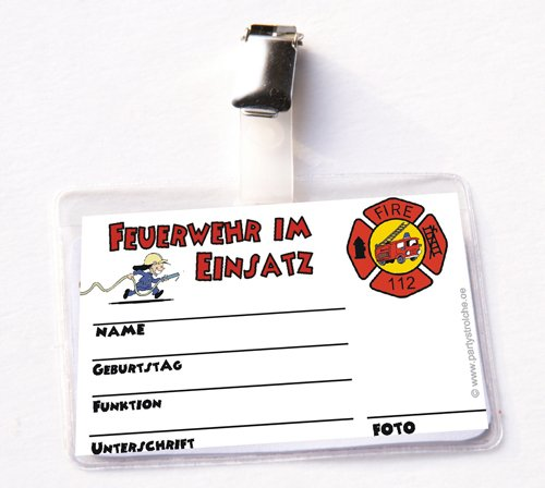 Feuerwehr Ausweis mit Hülle & Clip