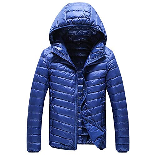 GYXYYF High-End Warm Mode Voor Mannen Veer Hooded Down Jacket Pure Color Boutique Heren Veer Down Jas Dunne Lichte Jassen