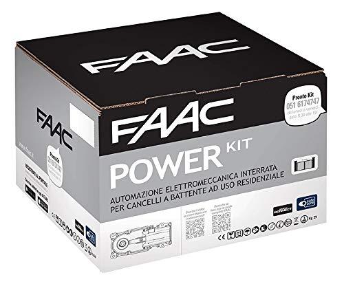 Faac Power Kit Automazione Elettromeccanica 2 Attuatori 770N Motore Interrato Cancelli Battente Larghezza Anta 3,5 m 106746445