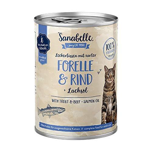 Sanabelle mit Forelle & Rind | 6 x 400g Katzenfutter nass