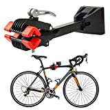 DNC Bike Repair Stand Foldable Bicycle Wall Mount Rack Workstand, Bicycle Mechanic Maintenance for Storage(red)