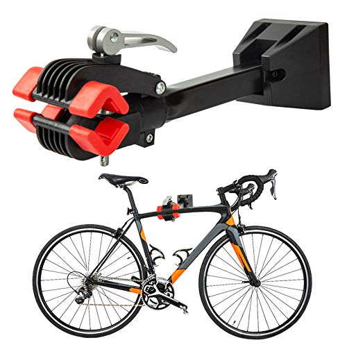 DNC Bike Repair Stand Foldable Bicycle Wall Mount Rack Workstand Bicycle Mechanic Maintenance for Storagered