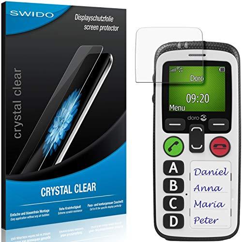 SWIDO Schutzfolie für Doro Secure 580 IP [2 Stück] Kristall-Klar, Hoher Festigkeitgrad, Schutz vor Öl, Staub & Kratzer/Glasfolie, Bildschirmschutz, Bildschirmschutzfolie, Panzerglas-Folie