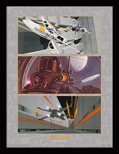 Star Wars 30 x 40 cm x-Wing Asalto impresión enmarcada