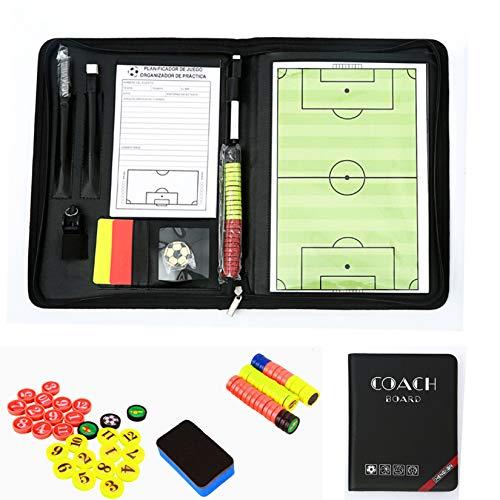 RoseFlower Carpeta táctica,Pizarra Táctica de Fútbol Imanes Coach Board para Entrenador Accesorios de Tablero de Entrenamiento (Taille: 42 * 28cm)