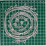 Ruluti 7pcs / Set del Anillo De De Corte De Metal Die Scrapbooking Esténciles Organice La Tarjeta De Bricolaje Álbum Die Plantilla