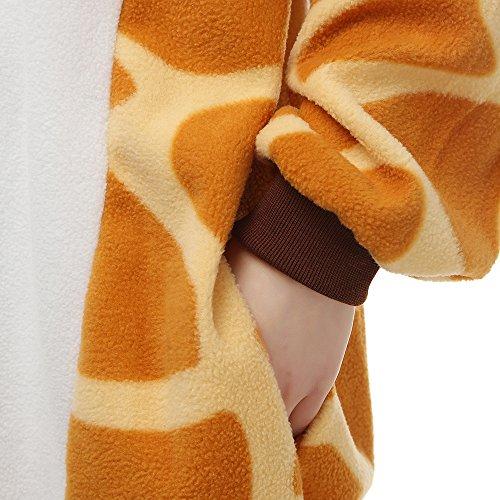 Pijamas Animales Mujer Disfraces de Cosplay para Adultos Pijama Jirafa Enteros, S