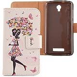 LANKASHI Umbrella Girl Design PU Flip Billetera Funda De Carcasa Cuero Case Protective Cover Piel para ZTE Blade L5 / L5 Plus 5'