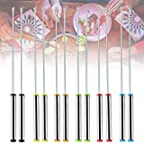 12Pcs Fondue Forks, Stainless Steel Dessert Forks with Multi Color Heat Resistant Handle for Fondue...