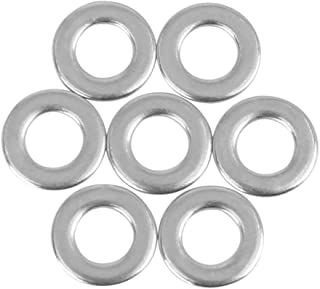 X AUTOHAUX M6 x 12mm x 1.2mm Stainless Steel Flat Washer Car Fastener Sealing Gaskets 55pcs