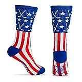 ChalkTalkSPORTS Hockey Half Cushioned Crew Socks | Patriotic |...