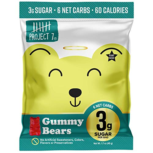 PROJECT 7 Low Sugar - Keto Gummies with 3g of Sugar, Gummy Bears, 1 Count