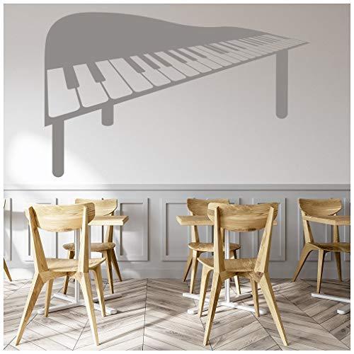 azutura Klavier Wandtattoo Musikinstrumente Wand Sticker Musikhaus Dekor verfügbar in 5 Größen und 25 Farben Extraklein Elfenbein Beige