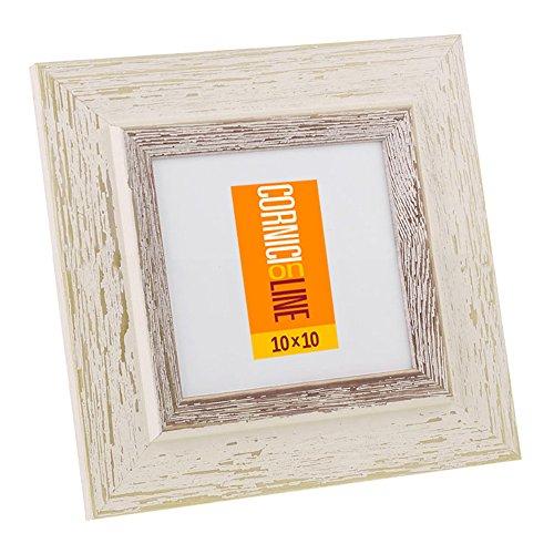 Cornice in legno Quadrata 246 Noce Cornice da Muro 20x20