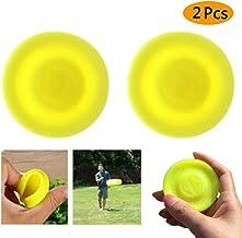 Supercat Zipchip Frisbee Mini Pocket Spin Catching Game Deporte Disco Volador Zipchip Creativo Empujar UFO para Adultos Niños Paquete de 2