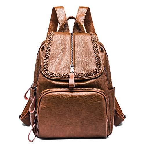 BPBAG Fashion vrouwen rugzakken portemonnee nep leer anti-diefstal rugzak voor dames schooltas met vintage weven lichtgewicht Satchel