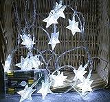 Koojawind Lichterkette, Led Crystal Clear Star Fairy Lichterkette FüR Hochzeiten Im Freien, GroßE Gartenpartys Terrasse Patio Outside Xmas Lichter, 4M