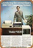 20 x 30 cm Metall-Blechschild, 1978 IBM 5110 Under 18.000