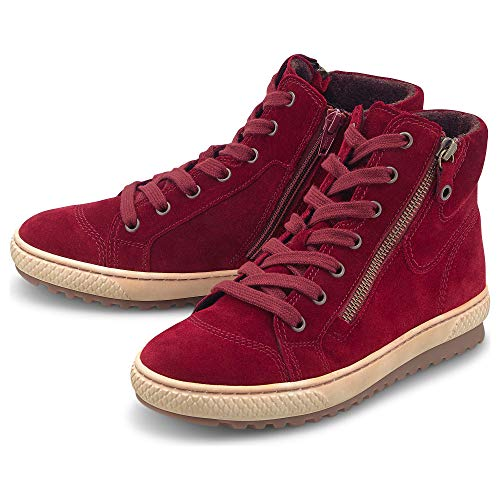 Gabor Damen High-Top-Sneaker Rot Rauleder 40