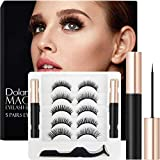 Dolanus Magnetic Eyelashes, Magnetic Eyelashes Natural Look, Magnetic Eyeliner and Lashes with Applicator(5 pairs)