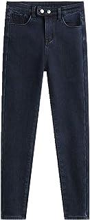 N\P Cashmere Skinny Jeans Mujer Extra Slim Cintura Alta en Otoño e Invierno Extra Slim Alto