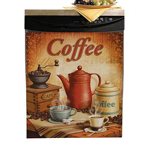 Collections Etc Vintage Coffee Dishwasher Cover - Unique Kitchen Accents for Coffee Lovers MagnetPaper