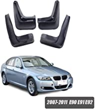 avec Vis Fixation Accessoires Fender Pleine Protection Roue Salet/é GLFDYC 4Pcs Noir Garde-Boue pour BMW 3 Series E90 E91 E92 2007-2011 Avant Arri/ère Bavettes Modification Voiture